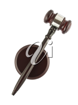 Royalty Free Photo of a Top View of a Judge's Gavel