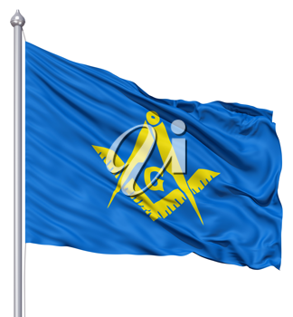 Royalty Free Clipart Image of the Masonic Flag