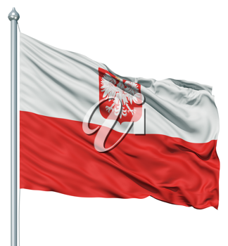 Royalty Free Clipart Image of the Flag of Poland