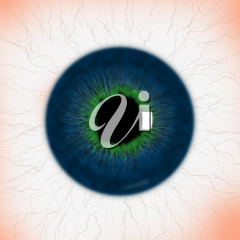 Royalty Free Clipart Image of an Eye