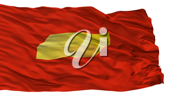 Shuya City Flag, Country Russia, Ivanovo Oblast, Isolated On White Background, 3D Rendering