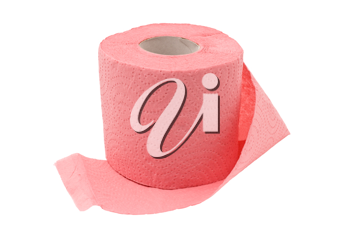 Roll of a toilet paper. Isolated on white background