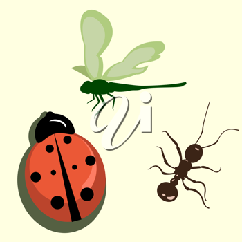 Royalty Free Clipart Image of a Bunch of Bugs