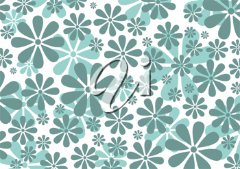 Royalty Free Clipart Image of an Abstract Daisy Background