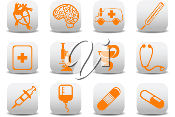 Royalty Free Clipart Image of Medical Icons