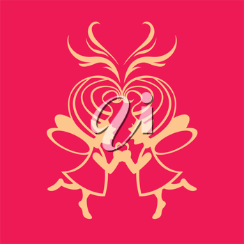 Royalty Free Clipart Image of Two Fairies