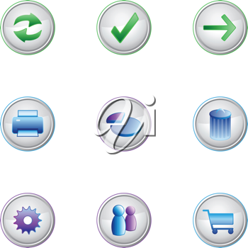 Royalty Free Clipart Image of Internet Icons