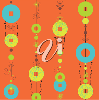 Royalty Free Clipart Image of Decorative Wind Chimes