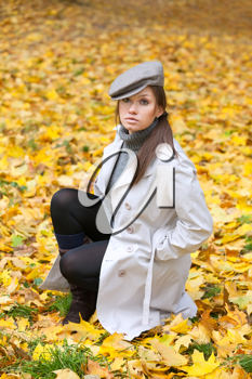 Royalty Free Photo of a Woman Posing Outdoors