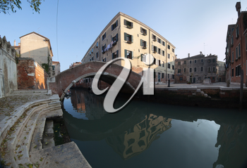 Venetian square and channel with bridge