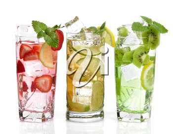 Royalty Free Photo of Fruity Drinks