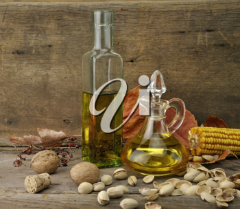 Royalty Free Photo of Bottles of Cooking Oils