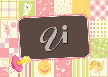 Royalty Free Clipart Image of a Baby Border