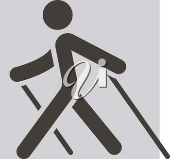 Summer sports icons set -  Nordic Walking icon