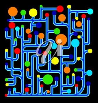 Royalty Free Clipart Image of a Net Diagram