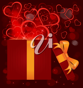 Royalty Free Clipart Image of a Valentine's Day Present