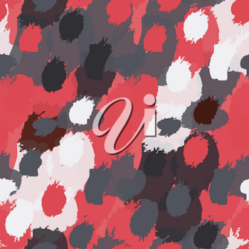 Grungy stains red and black.Hand drawn with ink and marker brush seamless background.