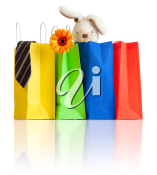 Royalty Free Photo of a Bunch of Shopping Bags