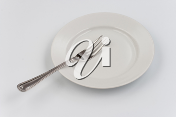 Royalty Free Photo of a Plate and Fork