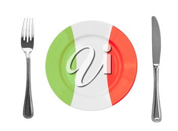 Royalty Free Photo of an Italian Plate
