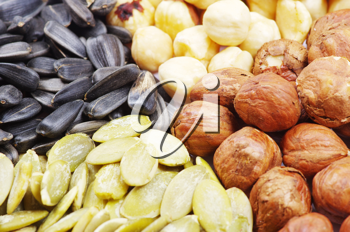 Royalty Free Photo of an Assortment of Nuts