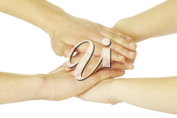 Royalty Free Photo of a Pile of Hands