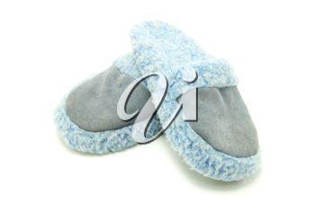 Royalty Free Photo of Blue Slippers