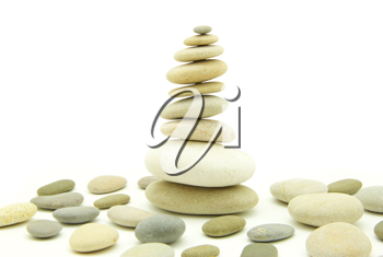 Royalty Free Photo of a Stack of Balanced Stones