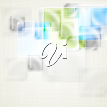 Royalty Free Clipart Image of an Abstract Square Background