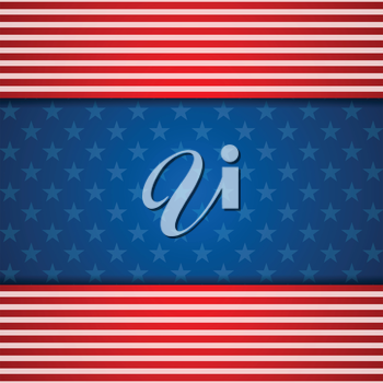 Presidents Day abstract USA flag colors background. Vector illustration