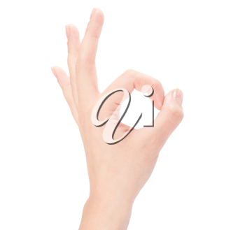 Royalty Free Photo of an Okay Hand Sign