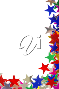 Royalty Free Photo of a Colourful Star Background