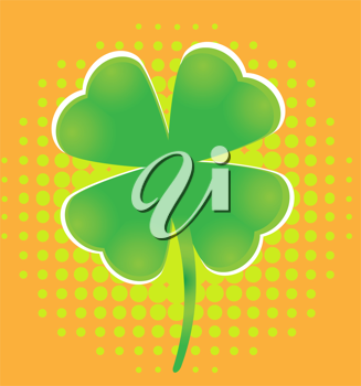Royalty Free Clipart Image of a Four Leaf Clover