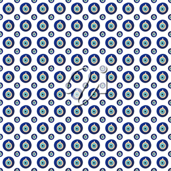 Seamless pattern with nazar