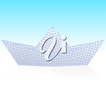 Royalty Free Clipart Image of an Origami Boat