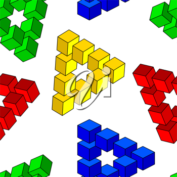 Royalty Free Clipart Image of an Optical Illusion