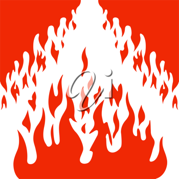 Royalty Free Clipart Image of a Flame Background