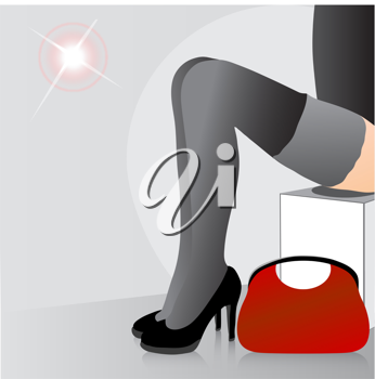 Royalty Free Clipart Image of a Woman's Legs