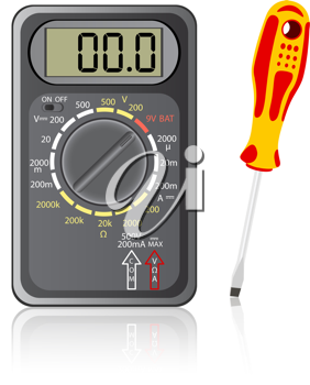 Royalty Free Clipart Image of a Multimeter