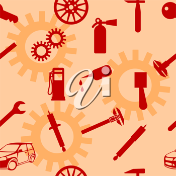 Royalty Free Clipart Image of Auto Repair Tools