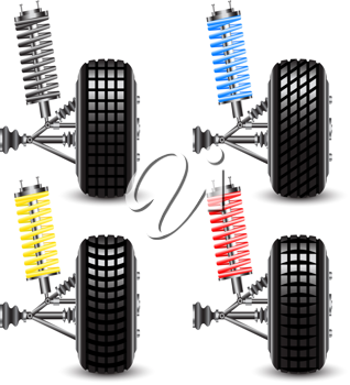 Royalty Free Clipart Image of a Car's Suspension