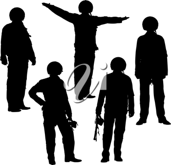 Royalty Free Clipart Image of Military Pilots