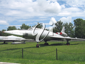 Moscow, Monino, Russia, the plane of war an a parking