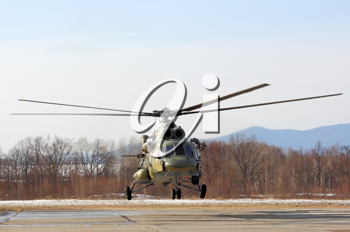 Russian army Mi-8 helicopter