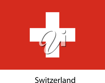 Flag  of the country  switzerland. Vector illustration.  Exact colors.