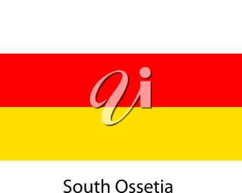 Flag  of the country  south ossetia. Vector illustration.  Exact colors.