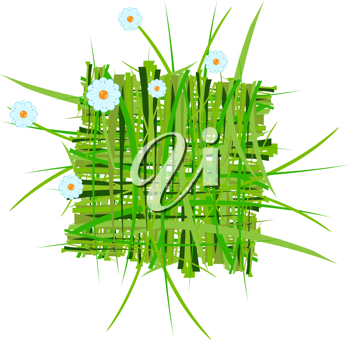 Royalty Free Clipart Image of a Summer Grass Decoration
