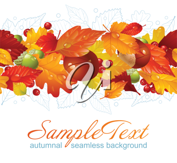 Royalty Free Clipart Image of a Seamless Autumn Background