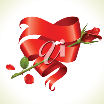 Royalty Free Clipart Image of a Rose Element