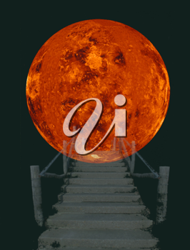 Royalty Free Photo of a Stairway to the Sun